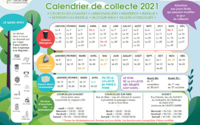 CALENDRIER DES ORDURES MENAGERES 2021